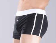 Black first copy cotton boxer with a white belt