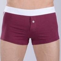 Rasberry first copy cotton boxer with a white belt