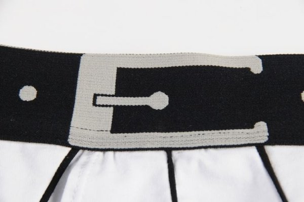 White Cotton Boxer with a black belt
