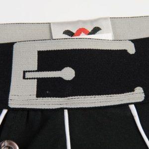 Black Cotton Boxer with a black belt