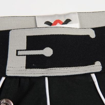Black Cotton Boxer with a black belt