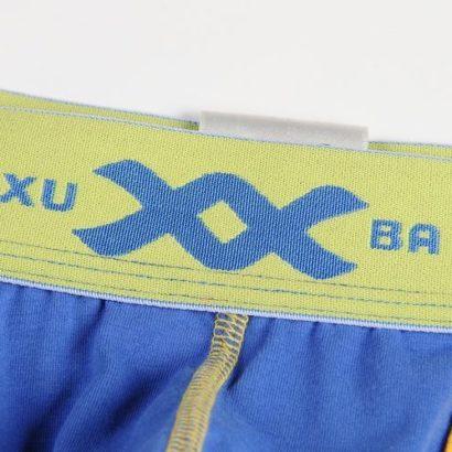 Striped white, blue and yellow cotton boxer
