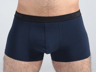High class dark blue cotton boxer with black belt