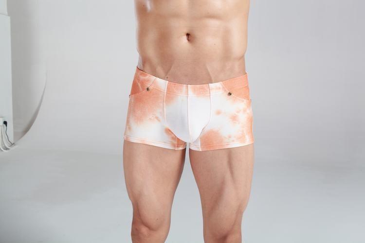 Boxer Cotton imitator colors of light orange jeans for men