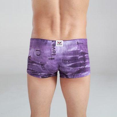 Boxer cotton jeans style violet colors for men