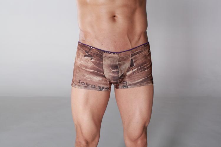 Boxer cotton jeans style brown colors for men