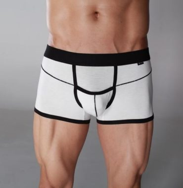 White Cotton Brief Boxer