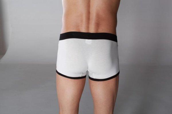 White Cotton Brief Boxer