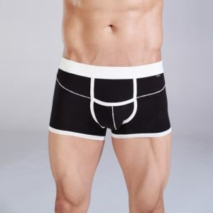 Black Cotton Brief Boxer