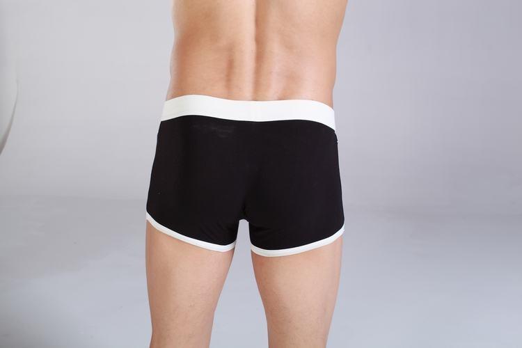 Black Cotton Brief Boxer
