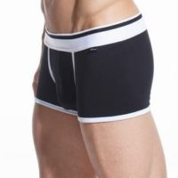 Black Cotton Trunk Boxer