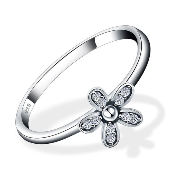 Flower silver 925 ring