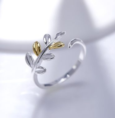 Tree leaf silver 925 ring