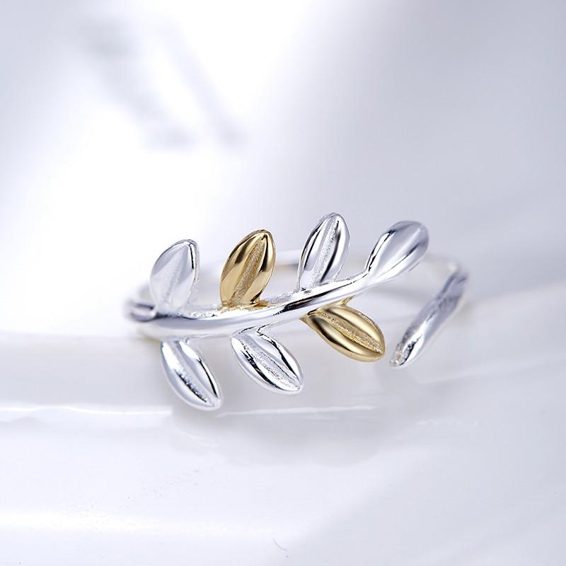 Tree leaf silver 925 ring