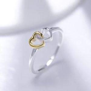 Love Hearts ring silver 925 with a unique design