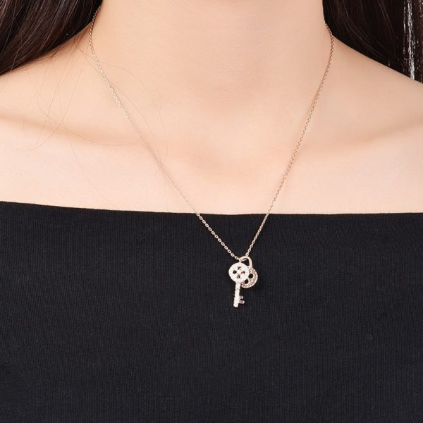 Lock and Key necklace has a unique design and plated with gold