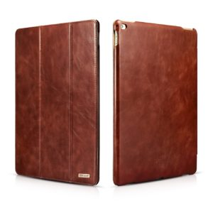iPad Pro 12.9 inch Cover Vintage Leather With Triple Folded Design Real Cowhide Leather