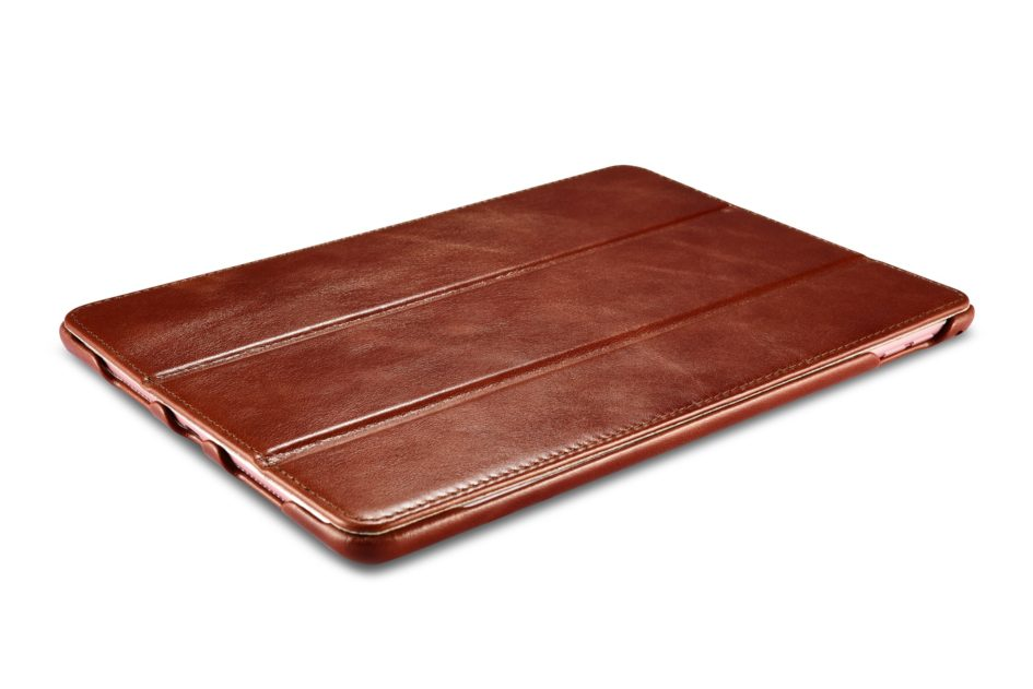 iPad Pro 9.7 inch Vintage Leather With Triple Folded Design Real Cowhide Leather