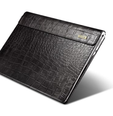 Surface Book Embossed Crocodile Genuine Leather Detachable Folio Case