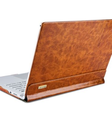 Surface Book Oil Wax Vintage Genuine Leather Detachable Folio Case