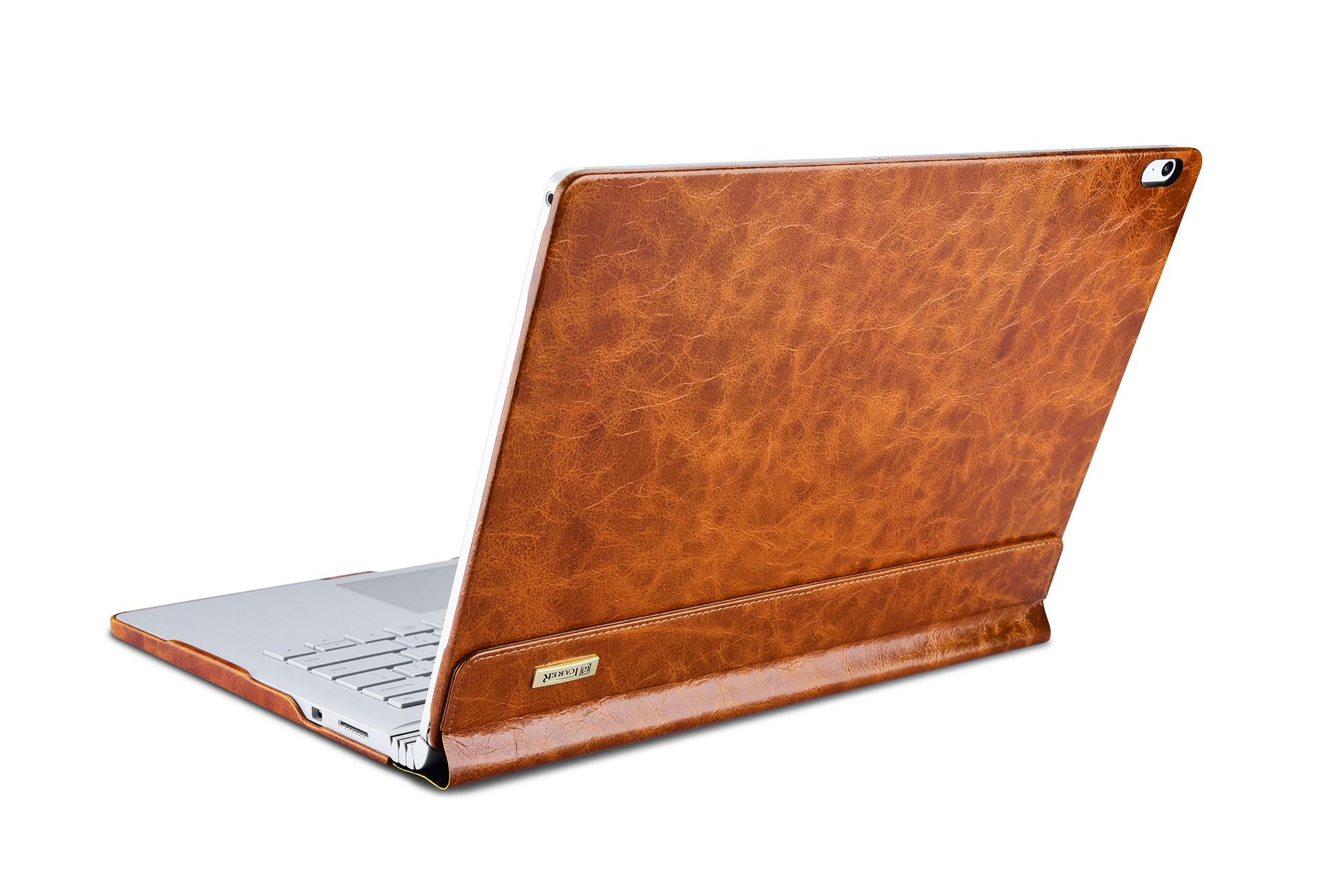 Surface Book Oil Wax Vintage Genuine Leather Detachable Folio Case