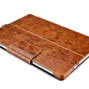 Surface Pro4 Oil Wax Vintage Genuine Leather Folio Case