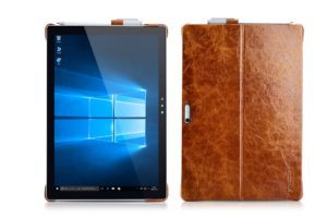 Surface Pro4 Oil Wax Vintage Genuine Leather Back Cover