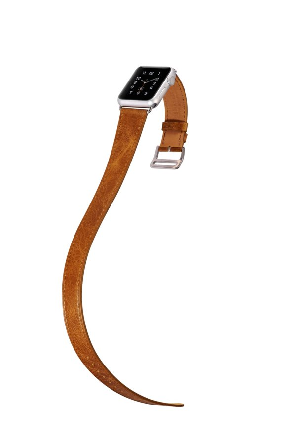 Classic Genuine Leather Quadri Watchband Series For Apple Watch
