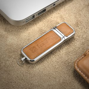 16G USB Genuine Leather Portable Flash Drive