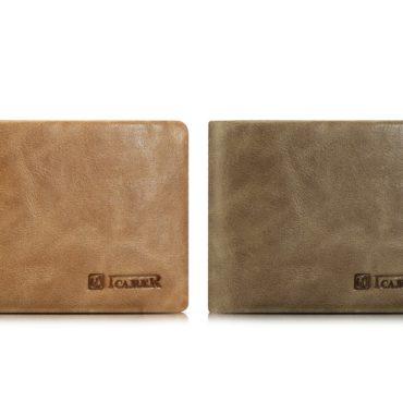 Shenzhou Real Leather Flip Bifold Wallet