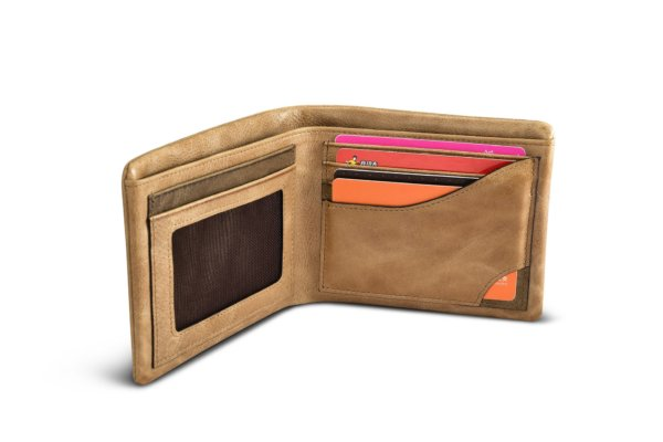 Shenzhou Real Leather Flip Bifold Wallet