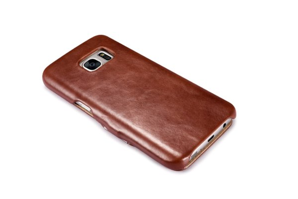 Samsung Galaxy S7 Vintage Series Side Open Genuine Leather Case
