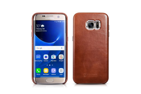 Samsung Galaxy S7 Edge Vintage Back Cover Series Genuine Leather Case