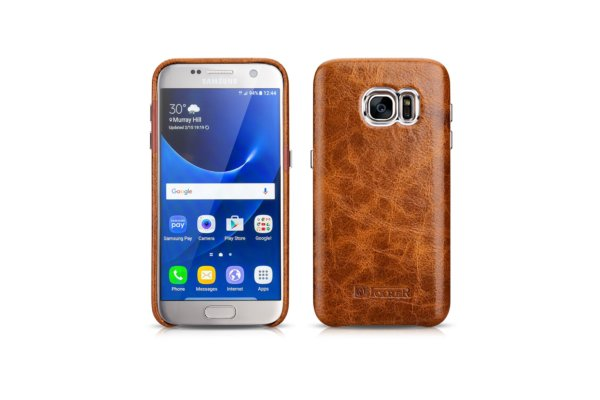 Samsung Galaxy S7 Oil Wax Back Cover Series Genuine Leather Case