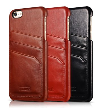 iPhone 6 Plus/ 6S Plus Baroque Vintage Back Cover Series Genuine Leather Case