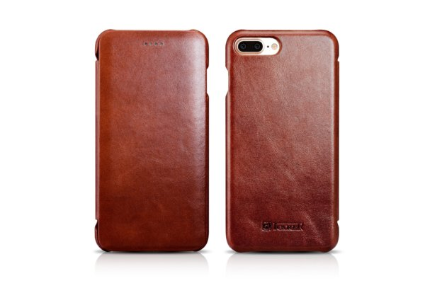 iPhone 7 Plus Curved Edge Vintage Series Genuine Leather Case