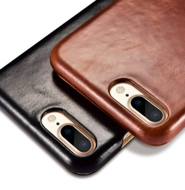 iPhone 7 Plus Vintage Series Side Open Genuine Leather Case