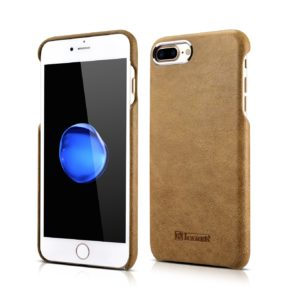iPhone 7 Plus Metal Warrior Shenzhou Real Leather Back Case