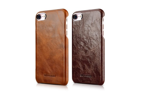 iPhone 7 Plus Metal Warrior Oil Wax Real Leather Back Case