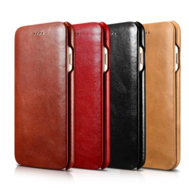 iPhone 7 Curved Edge Vintage Series Genuine Leather Case