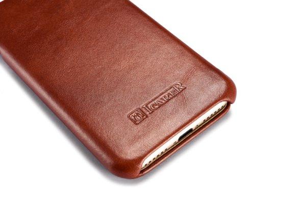 iPhone 7 Curved Edge Vintage Series Genuine Leather Case