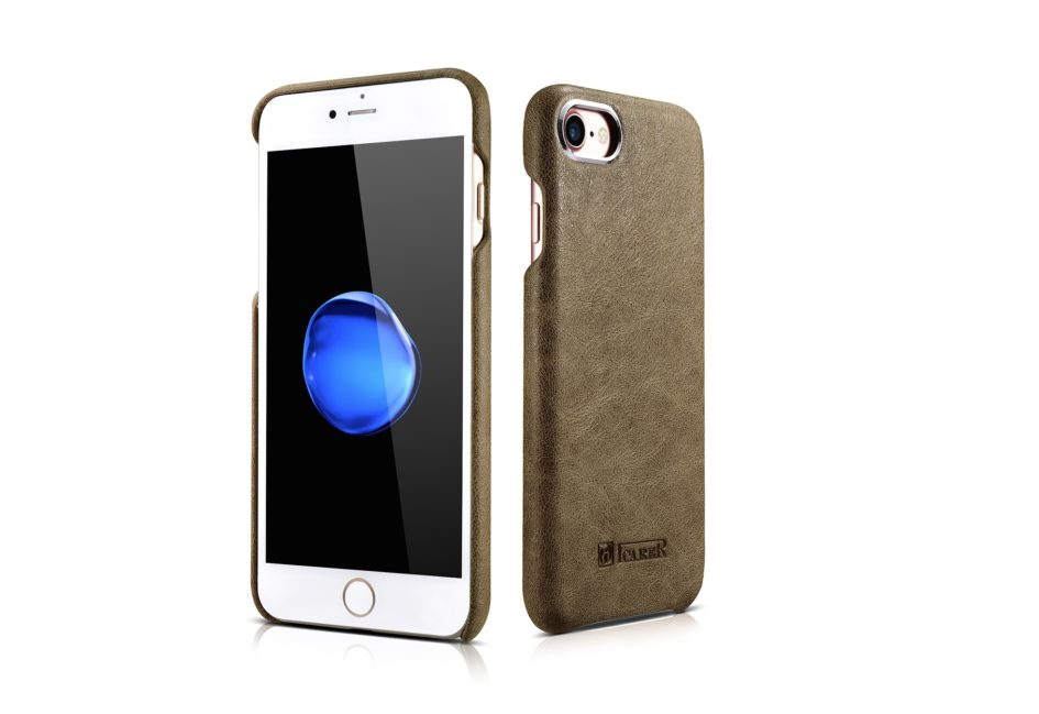 iPhone 7 Metal Warrior Shenzhou Real Leather Back Case
