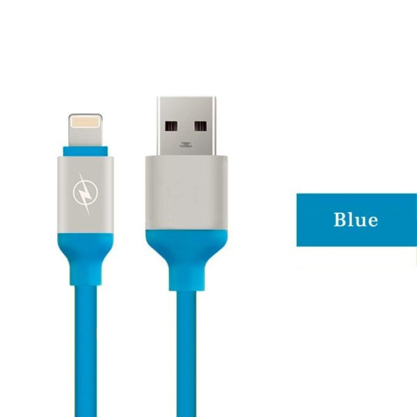 IPhone Cable 1 Meter High-quality USB cable fast charger soft TPE data sync USB charging cable for ios, for IPhone