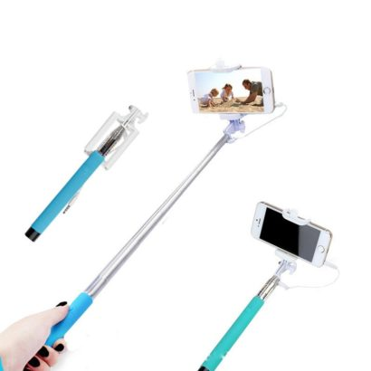 Selfie stick Foldable wired with Audio cable, monopod multi function