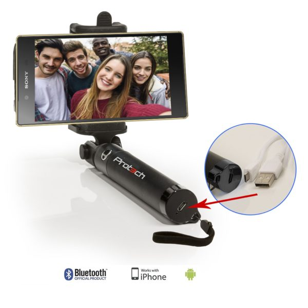 Selfie Stick Monopod With High Quality,Small size per person to 80 cm,Bluetooth with rechargeable battery