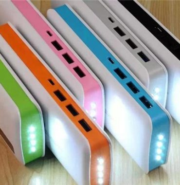 Power Bank High Capacity 20000mAh with 3 USB Ports And LED Light, Portable External Battery Charger