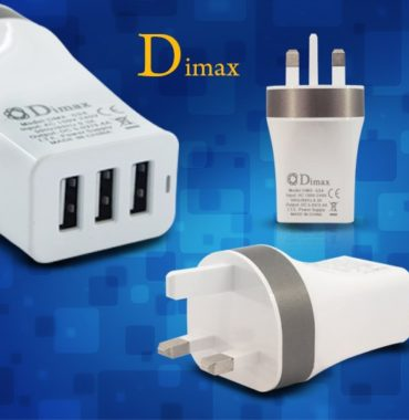 Dimax charger adapter 3 in 1 Compatible with all Smart iPhone, Tablets, iPad, Samsung, Apple