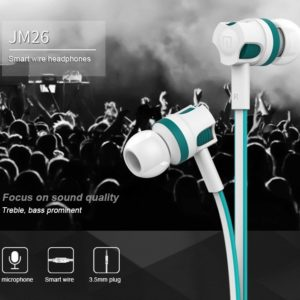 Langston JM26 3.5mm In-ear Flat Wire Headphone Earphone With Mic for iPhone Smartphone Stereo Headset Best Quality With MIC