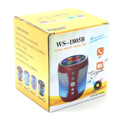LED Light WS-1805B Bluetooth Wireless, Speaker Mini Portable MP3 Phone