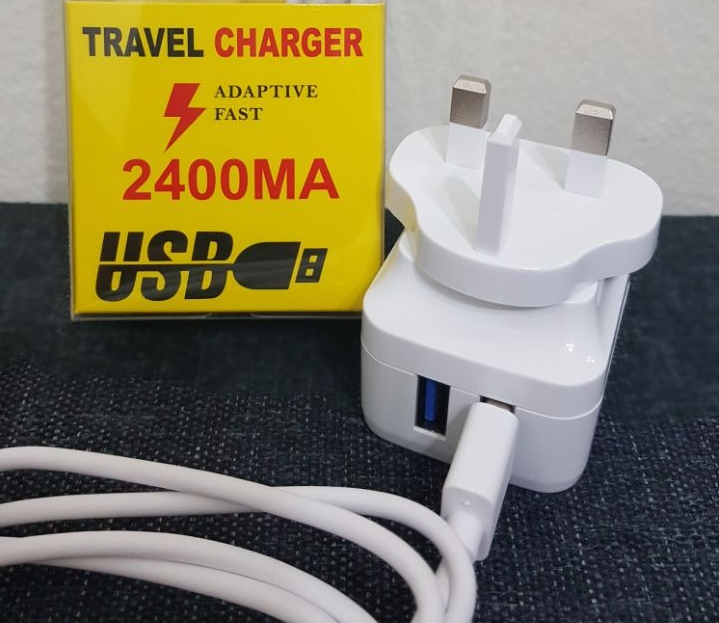 Smart Adapter Charger Samsung Super Support For All android, 2 USB